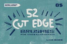 Cut Edge Brushes for Illustrator by Guerillacraft on Creative Market