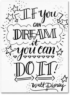 Elizabeth Caldwell 'Dream It Do It' Canvas Art - 24 x 32 art quotes Trademark Global Elizabeth Caldwell 'Dream It Do It' Canvas Art - 24 Calligraphy Quotes Doodles, Doodle Quotes, Hand Lettering Quotes, Fonts Quotes, Creative Lettering, Typography Quotes, Bullet Journal Quotes, Bullet Journal Ideas Pages, Bullet Journal Inspiration