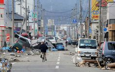 Japan's earthquake one year later. You can go to this site and see pictures of when it happened, click on any of the pictures to see what that same picture looks like one year later.  Wow !!!!