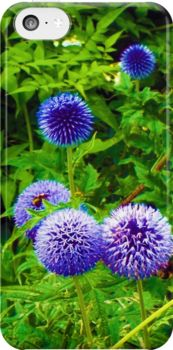 #Blue #Allium #Flowers by Judi Saunders. iPhone skin, plus more!