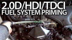 How to #prime #fuel system in #Volvo 2.0D #Ford 2.0TDCi #Peugeot 2.0HDi #Citroen #service #cars #maintenance