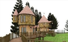 Tree Houses Straight Out Of Harry Potter | 29 Amazing Backyards That Will Blow Your Kids' Minds