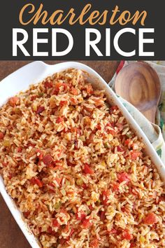 Rice Side Dishes, Food Dishes, Main Dishes, Southern Recipes, Red Rice Recipe Southern, Savannah Rice Recipe, Best Red Rice Recipe, Charleston Red Rice Recipe, Recipes