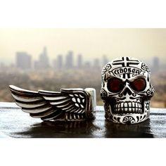 #kingbaby #wings #forthechosenfew #skull #rings #silver #garnet #cross #chosen #losangeles #santamonica #lasvegas #nashville