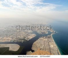 aerial view of dubai, a emirate within the United Arab Emirates by PRILL, via ShutterStock
