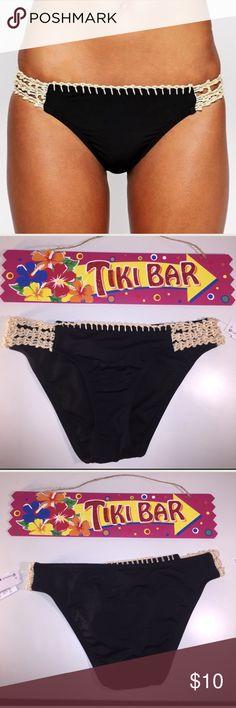 NEW Small Black & Woven Rope Side Detail NEW Small Bikini Lab Black & Woven Rope Side Detail Bikini Lab Swim Bikinis