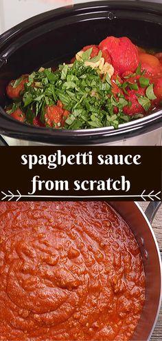 Popular Recipe for Homemade Spaghetti Sauce Online Recipes Today! Popular Recipe for Homemade Spaghetti Sauce Online Recipes Today! Spaghetti Sauce From Scratch, Sauce Spaghetti, Spaghetti Recipes, Pasta Recipes, Crockpot Recipes, Dinner Recipes, Cooking Recipes, Keto Spaghetti Sauce Recipe, Healthy Spaghetti Sauce