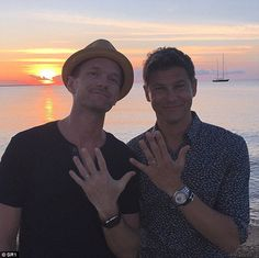 Love wins: The couple have been together for 11 years and married for one, and celebrated the recent Supreme Court decision with a snap of them both bearing their wedding rings