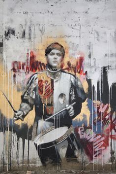 Conor Harrington + Vhils. #streetart jd