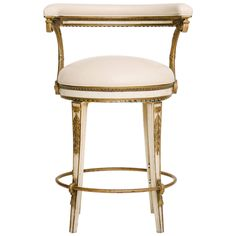 French 1940s Neoclassical Style Iron Bar Stool | From a unique collection of antique and modern stools at https://www.1stdibs.com/furniture/seating/stools/