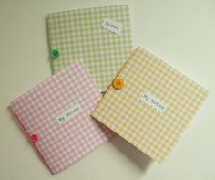 'Gingham' Mini Notebooks, Handmade pack of 3 Free Notebook, Notebooks, Journals, Beautiful Gifts, Creative Cards, Handmade Crafts, Gifts For Friends, Special Gifts, Gingham