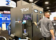 The newly fully enclosed Titan Robotics Atlas large-format 3D printer