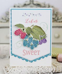 Life Is Sweet Card by Melissa Phillips for Papertrey Ink (June 2017)
