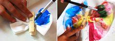 Pra Gente Miúda: Borboletas com guardanapos de papel