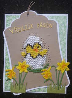 Cross Stitch Cards, Cross Stitch Animals, Cross Stitching, Cross Stitch Embroidery, Cross Stitch Patterns, Diy And Crafts, Paper Crafts, Embroidery Cards, Easter Cross