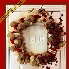 Home Holiday • Adore Door Decor by #LifestyleDesign http://byLifestyleDesign.com #Holiday #Decorating
