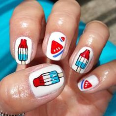 Firecracker pops would be perfect for any 4th of July fete:   21 Fun Summer Nail Art Ideas