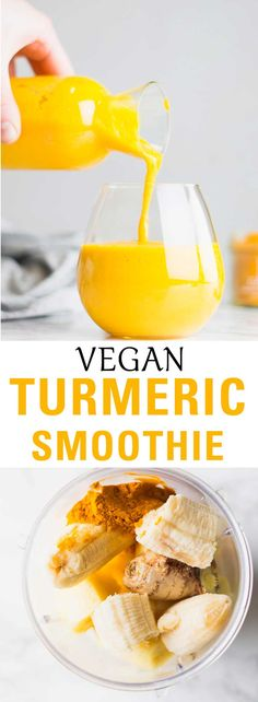 The ultimate healthy smoothie. This Turmeric Smoothie is packed with anti-inflammatory properties and vitamin C. Made with banana, ginger and pineapple.