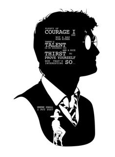 Harry - Quote Silhouette Art Print