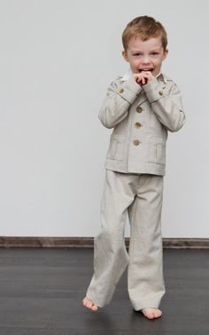 Boys Linen Suit by MiniSize on Etsy
