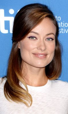 Olivia Wilde with half-up half-down style - Hairstyles 2013