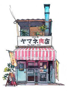 Tokyo Storefront poesie urbane ad #acquerello