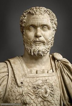 """Clodius Albinus, Latin: Decimus Clodius Septimius Albinus Augustus; born Hadrumetum, Africa Province (Sousse), Tunisia, ca. 150 – February 19, 197. Was a Roman usurper proclaimed emperor by the legions in Britain and Hispania after the murder of Pertinax in 193, known as """"Year of the Five Emperors"""", and who proclaimed himself emperor again in 196, before his final defeat the following year. Albinus was a severe and often cruel commander, and he has been called the Catiline of his time."""