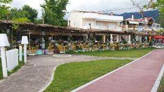 Φωτογραφία: Ouzeri Mouses Thasos, Trip Advisor, Dolores Park, Sidewalk, Restaurant, Island, Travel, Viajes, Side Walkway