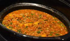 Soupe de lentilles, orge et légumes à la mijoteuse