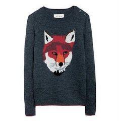 c81c24ddc240 Fox face jumper Fox Print, Crew Neck Shirt, Fox Sweater, Animal Sweater,