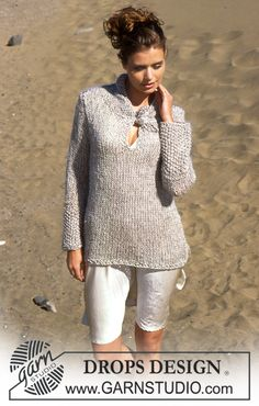 "Roomy DROPS sweater in ""Muskat"", ""Vivaldi"" and ""Glitter"" Free pattern by DROPS Design."