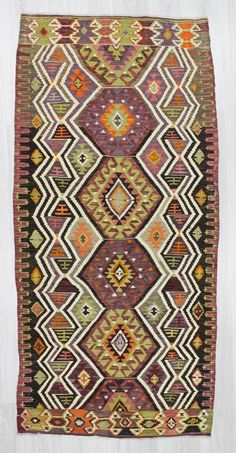 Vintage kilim rug from Antalya region of Turkey. In very good condition. Approximately 40-50 years old.