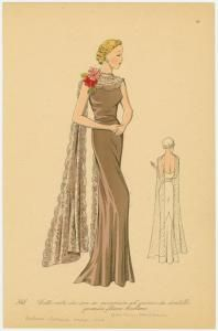 1930's evening gown, NYPL  for Allie
