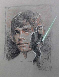 Luke Skywalker Jedi Star Wars - Drew Struzan. Art Details