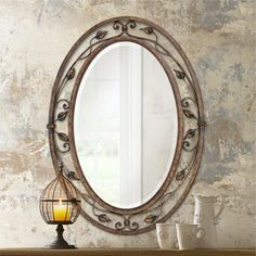 "Eden Park Collection Oval 34"" High Wall Mirror"