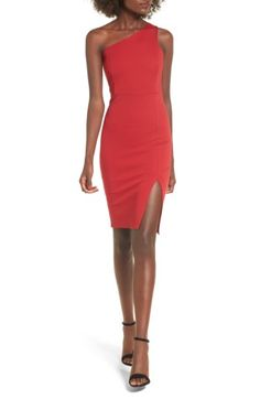 Free shipping and returns on Soprano One-Shoulder Body-Con Dress at Nordstrom.com. Classic and sophisticated, this one-shoulder dress is cut in a flattering, figure-skimming silhouette and finished with a flirty slit at the front hem.