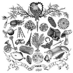 Dark and symbolic illustrations by design duo Førtifem