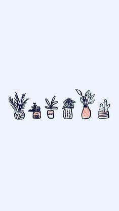 Super Ideas For Plants Wallpaper Iphone Drawing Iphone Wallpaper Vsco, Plant Wallpaper, Homescreen Wallpaper, Iphone Background Wallpaper, Pastel Wallpaper, Kawaii Wallpaper, Tumblr Wallpaper, Girl Wallpaper, Aesthetic Iphone Wallpaper