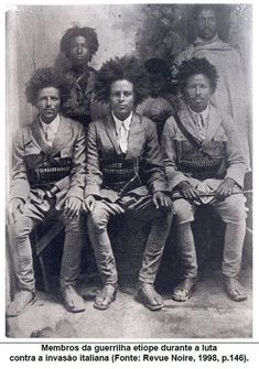 Ethiopian freedom fighters NEGRITOS Negro black beauty afro Q interessante black history