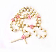 Handmade Polymer Clay Rosary Bead Necklace