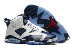 """http://www.jordannew.com/2017-mens-air-jordan-6-olympic-white-midnight-navyvarsity-red-for-sale.html 2017 MENS AIR JORDAN 6 """"OLYMPIC"""" WHITE/MIDNIGHT NAVY-VARSITY RED FOR SALE Only 87.18€ , Free Shipping!"""
