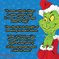 ~The Grinch Who Stole Christmas~