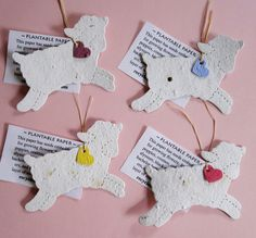 Plantable Paper Flower Seed Lamb Favors  Baby by recycledideas, $19.60
