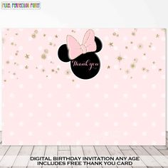 Minnie Mouse Invitation Minnie Mouse Pink by PixelPerfectionParty