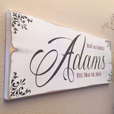 Rustic Family Established Sign - Antique White Finish                                                                                                                                                                                 More