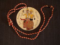 "German Carnival Medal, ""Em leck're"", ""Dropke Helau"" [1987] by MaGriffeBoutique on Etsy"