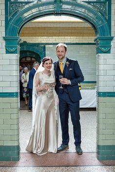SARAH // Honeysuckle bias-cut silk gown with antique lace trim // Image: Abraham DeSouza // Kate Beaumont Bride