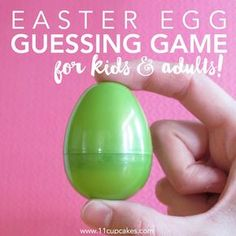 Fun Easter Egg Guessing Game for kids and adults. After Easter brunch, entertain your guests with a fun guessing game. Before your guests arrive, fill an easter egg with small items that you find around your house (toothpick, paper clip, staple, p…