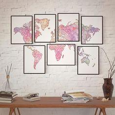 Mapamundimosaico   #creatumapa #decor #interior #homedecor #interiorismo #diseñodeinteriores #InspirationStyle #Decorar #Decoración #Inspiracion #InteriorDesign #Home #Decorate #encargosbonitos #personalizado #poster #mapa #map #mapart #geogragift