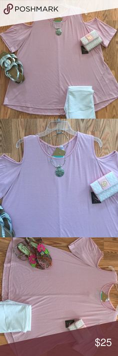 COLD SHOULDER, APRIL SPIRIT, PINK TUNIC! 1, 2,3 X  COLD SHOULDER, APRIL SPIRIT, PINK & NAVY, PLUS SIZE TUNICS! SUPER CUTE AND EASY TO WEAR! CAN BE PAIRED WITH LEGGINGS, SKINNY JEANS (white, light wash, acid wash, blue, dark wash), JEANS with or without belt, SHORTS OR ANY LENGTH WITH OR WITHOUT BELT! ADORABLE! YOU WILL RECEIVE MANY COMPLIMENTS! THESE SHORTS LAY NICELY! SUPER FLATTERING! THANKS FOR VISITING MY CLOSET! PLEASE ASK ANY QUESTIONS YOU MAY HAVE!  Tops Tunics